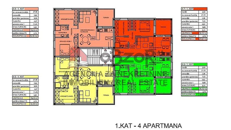 Appartamento, 57 m2, Vendita, Privlaka