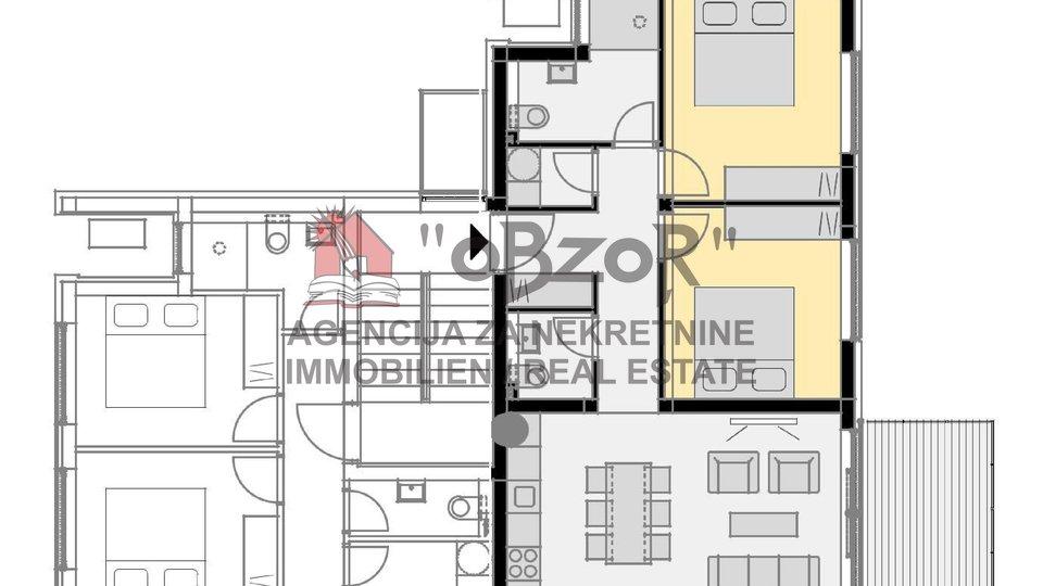 NOVALJA - dvosoban apartman 76,11m2 (vrt+2PM)