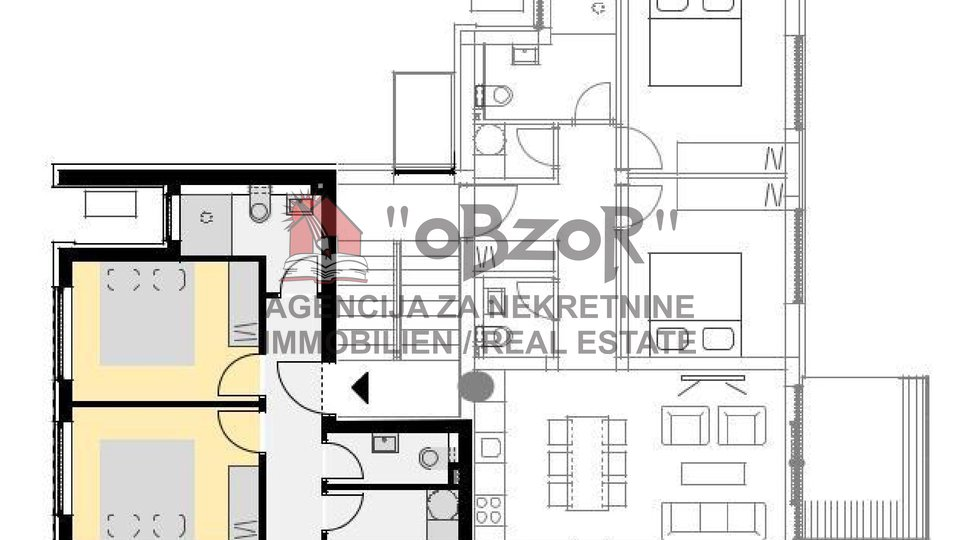 NOVALJA - dvosoban apartman 69,05m2 (vrt+2PM)