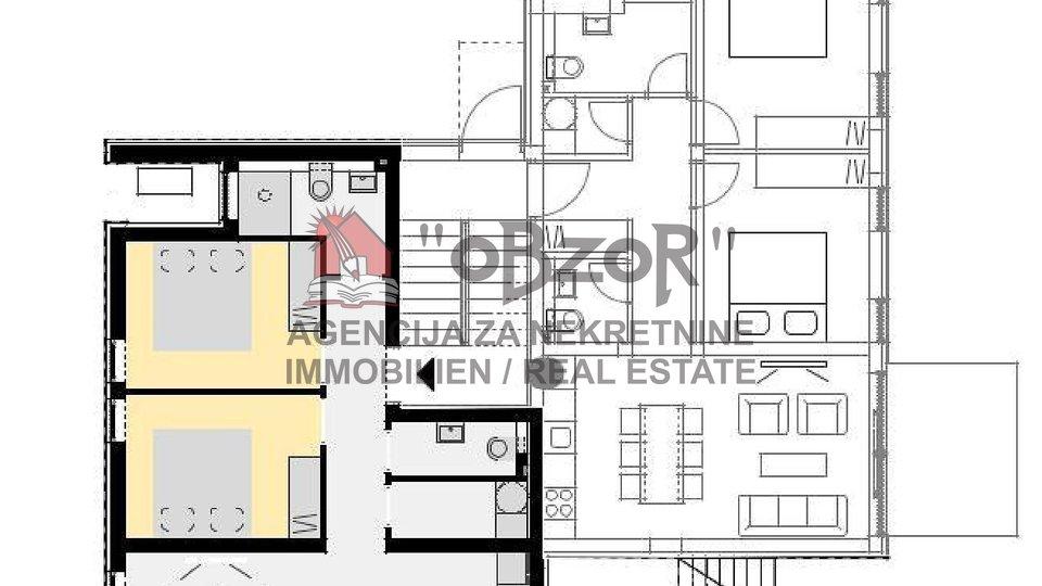 NOVALJA - dvosoban apartman 72,11m2 (bazen+vrt+2PM)