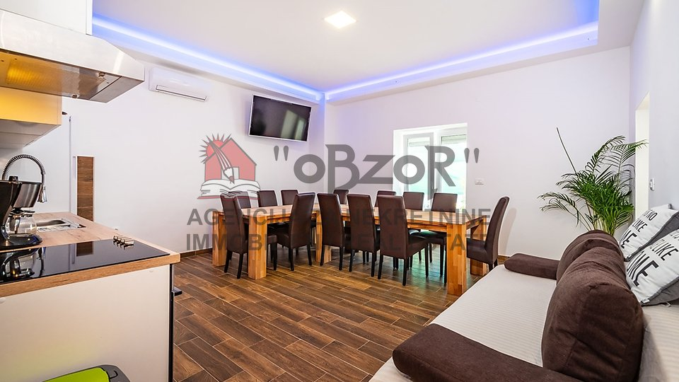 MASLENICA-peterosoban namješten apartman 130m-1 RED DO MORA