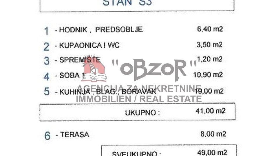 Zadar-VIDIKOVAC, jednosoban stan 49m2 - NOVOGRADNJA